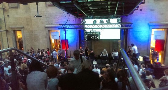 Video Jam during its SPACES tour. Image from The Salfordian.